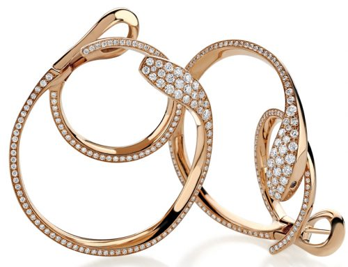 Pink gold Mamba earrings